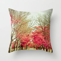 wanderlust Throw Pillows featuring Wanderlust by Olivia Joy StClaire
