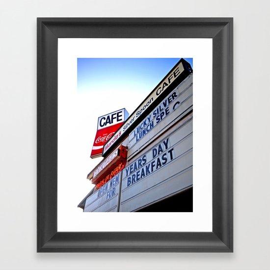 Roadside cafe Framed Art Print