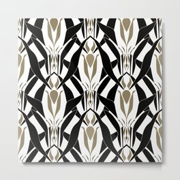 Abstract pattern retro ornament Metal Print