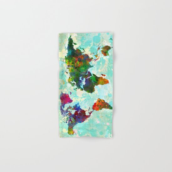 World Map - 1 Hand & Bath Towel