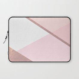 Geometrics - pink peach rose gold Laptop Sleeve