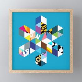 Collage Snowflake Framed Mini Art Print
