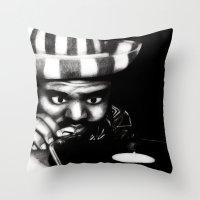 reggae Throw Pillows featuring Reggae DJ by Mr Shins