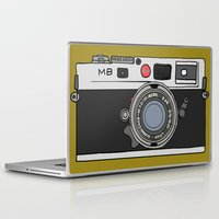 camera Laptop & iPad Skins featuring Camera by Illustrated by Jenny