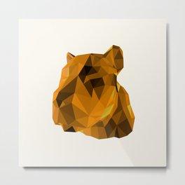 Tessellated Lioness Metal Print