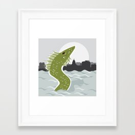 Bozho the Lake Mendota Monster Framed Art Print