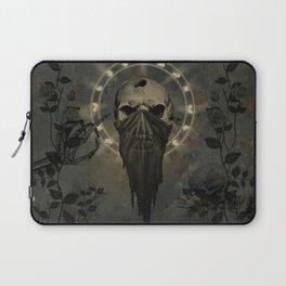 Creepy skull Laptop Sleeve