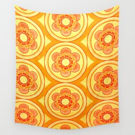 SEVENTIES FLOWERS Wall Tapestry