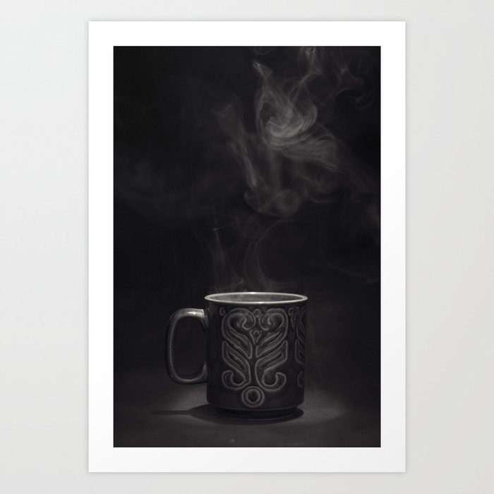 Coffee Black and White Photograph Art Print