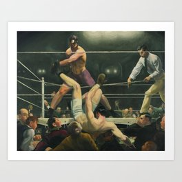 Dempsey and Firpo Boxing - George Bellows Art Print