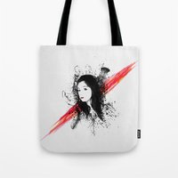 melissa smith Tote Bags featuring Melissa by Josh Belden