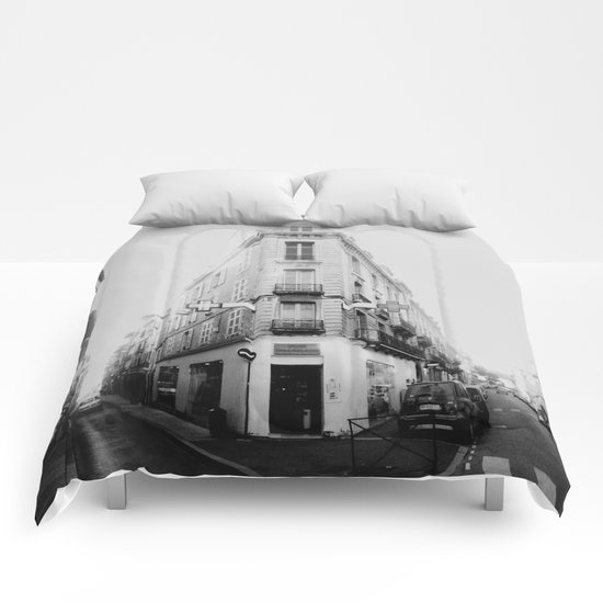 Monochrome France Comforters