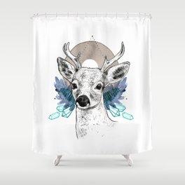 The Deer (Spirit Animal) Shower Curtain