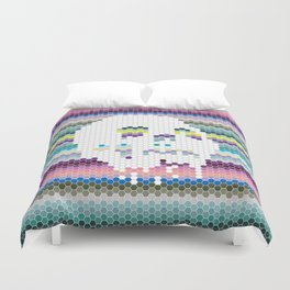 Color the Skull Duvet Cover