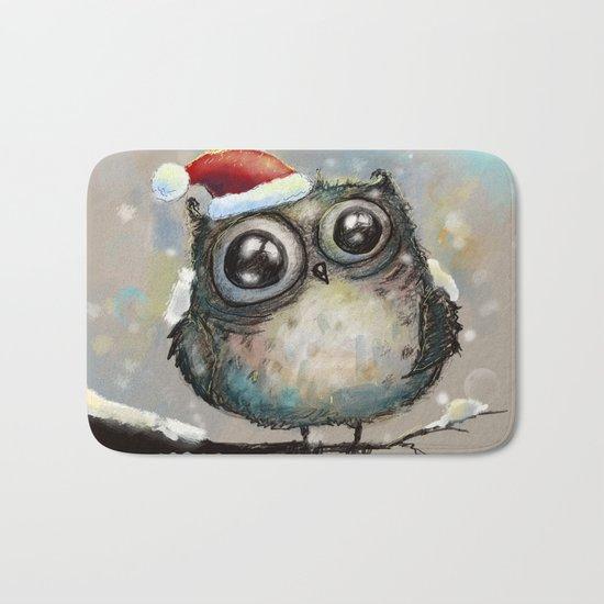 christmas owl Bath Mat