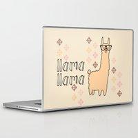 llama Laptop & iPad Skins featuring llama llama by Vickn