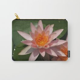 Beautiful Peach Waterlily Vector Carry-All Pouch