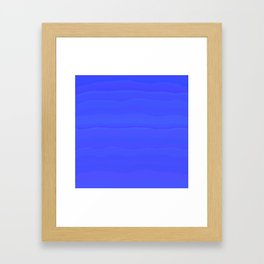Lazy Blue Sky Subtle Rolling Cloud Stripes Framed Art Print