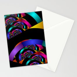 many colors on black for curtains Stationery Cards