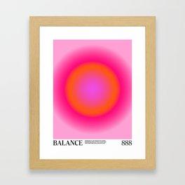 Gradient Angel Numbers: Balance Framed Art Print
