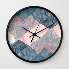 O'er and Under the Wild Mountains Wall Clock