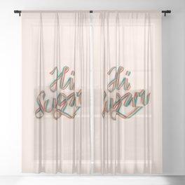 HI SUGAR Sheer Curtain