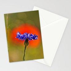 Cornflower and poppy Stationery Cards
