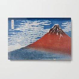 Katsushika Hokusai Mountain Volcano Fine Wind, Clear Morning Metal Print