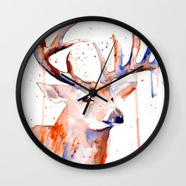 Deer Art Watercolor painting Wall Clock