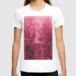 Pink Distressed & Textured Paper Design T-shirt