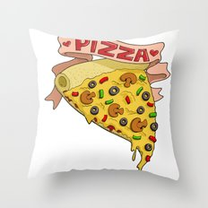 Pizza LOVE Throw Pillow