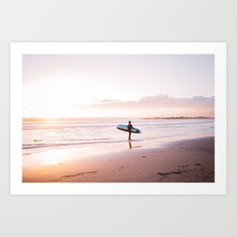 Venice Beach Surfer Art Print