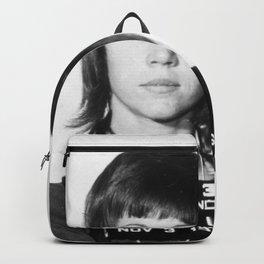 Jane Fonda Mug Shot Vertical Vintage Photo Backpack