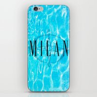 milan iPhone & iPod Skins featuring Milan by Liz Guhl @lizaguhl