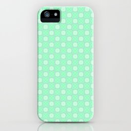 Mint Green Abstract VI iPhone Case