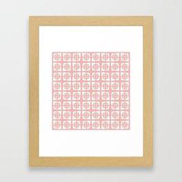 Mid Century Modern Pattern 271 Dusty Rose Framed Art Print