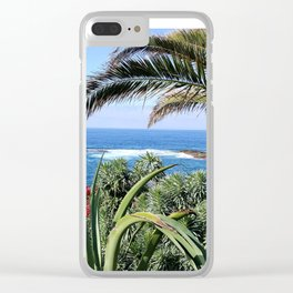 SEASIDE YUCCA Clear iPhone Case