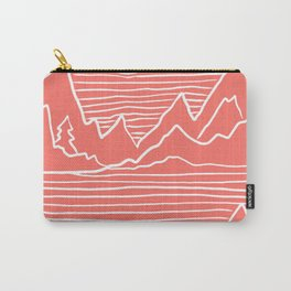 A Perfect Adventure - Outdoor Abstract Living Coral Carry-All Pouch