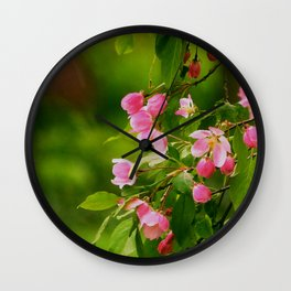 Apple Blossoms in the Spring Wall Clock