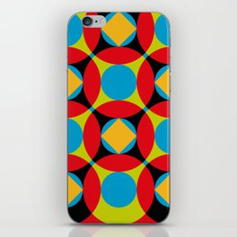 Very colorful circles, squares, intersections, geometrical fantasy. iPhone Skin
