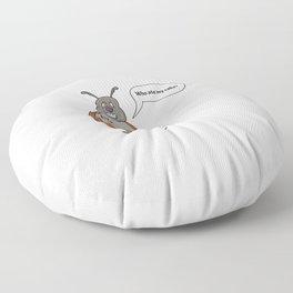 ladybug asking for her cake Floor Pillow