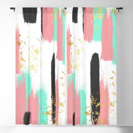 Abstract brush Blackout Curtain