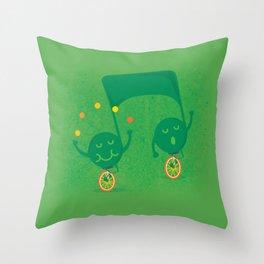 a fun musical note Throw Pillow