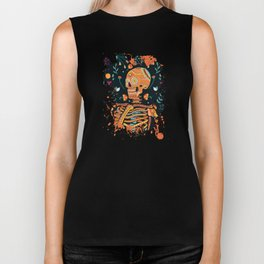 Day of the Dead Skeleton – Dia de los muertos – sugar skull – cool design Biker Tank