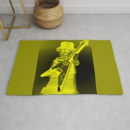 LEGO Custom Rock Star Band Minifigure with Guitar by Chillee Wilson Rug