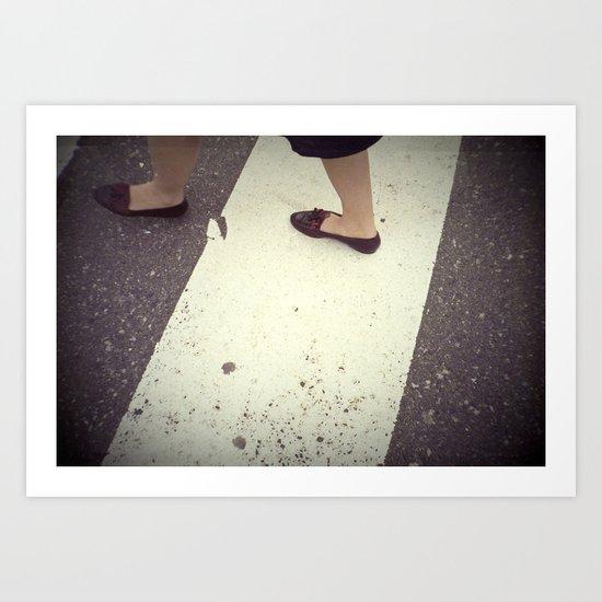 Walking By Art Print