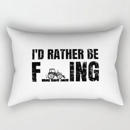 I'd Rather Be Farming Funny Saying Farmer Gift Rectangular Pillow