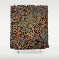 antique Shower Curtains featuring ANTIQUE PATTERN by Klara Acel