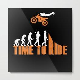 Motocross Enduro Motorbike Freestyle Extreme Sport Metal Print