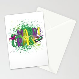 Mask Parade Mardi Gras Stationery Cards